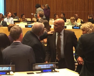Dr. Pitts and Harry Belafonte at the UN copy