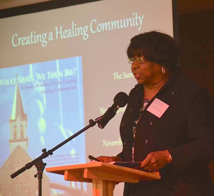 Dr. DeeDee Coleman teaching about the NBC Healing Communities Tool Kit