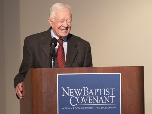 President Jimmy Carter speaking at the New Baptist Covenant Summit January 2015 at the Carter Center. Photo courtesy of CatMax Photography